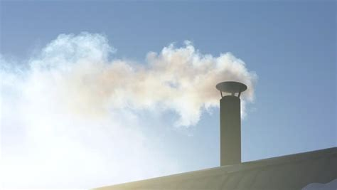 chimney smoke stock footage