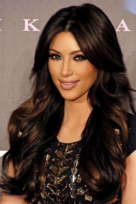kim kardashian hair color highlights kim kardashian hair color fresh look celebrity hairstyles
