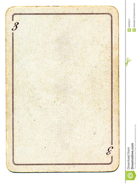 card three picture template isolated on white card paper with number three