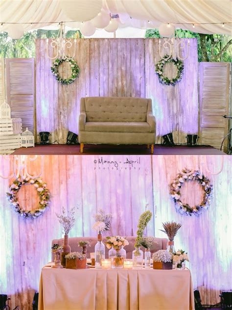 Wedding Backdrop Design Philippines by Rustic Tagaytay Wedding Philippines Wedding