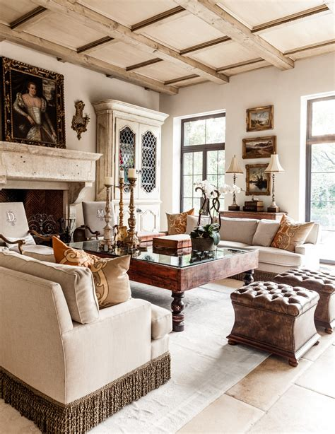 mediterranean living room with carpet stone fireplace in distressed red brick roofbetterdecoratingbible