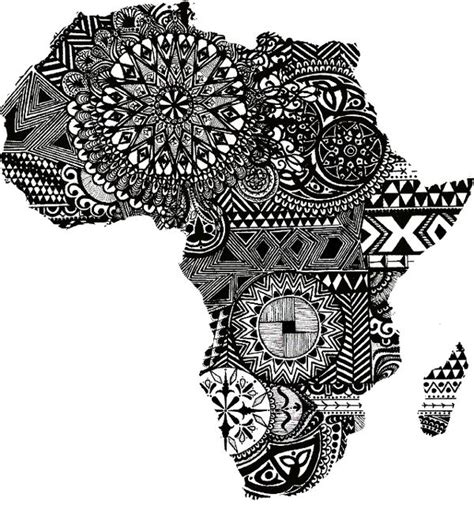 africa map tattoo designs 25 best ideas about on