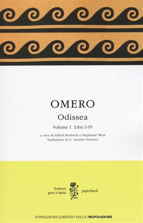 testo greco odissea testo greco a fronte vol 1 libri i iv omero