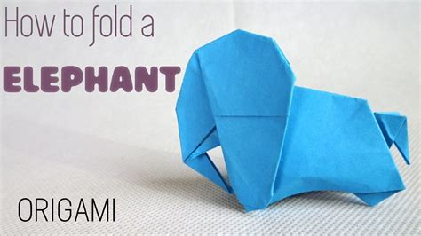 How To Make A Paper Elephant - how to make an paper elephant origami elephant easy