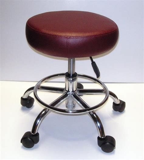 Burgundy Colored Stool by Spa Accessories P2