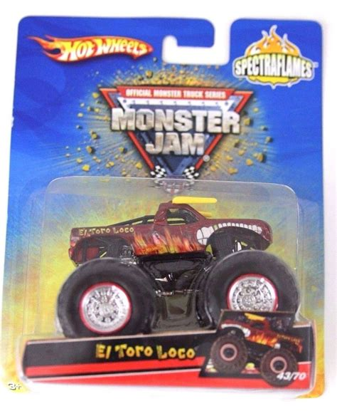 diecast monster jam trucks wheels monster jam spectraflames el toro loco die cast