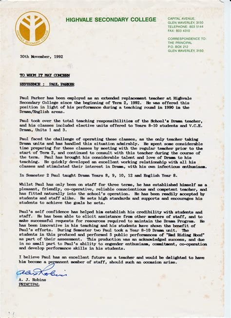 Letter Of Recommendation For Drama Paul Performance Coaching 187 Team