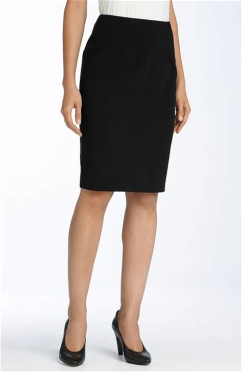ponte knit pencil skirt eileen fisher ponte knit pencil skirt in black lyst