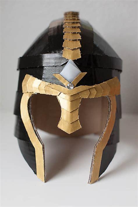 Cardboard Papercraft - crafteeo diy cardboard warrior helmets diy cardboard