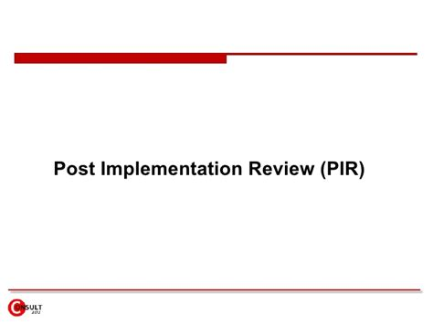 post implementation review template erp re implementation