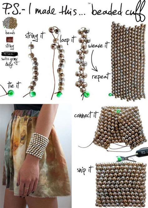 how to make a beaded cuff beaded bracelet ideas diy projects craft ideas how to s