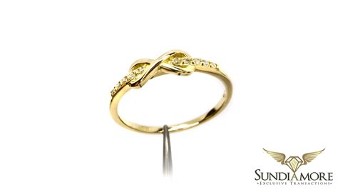 gold ring infinity with diamonds rings with diamonds