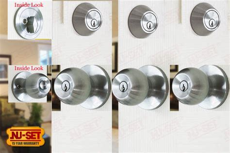Door And Deadbolt Sets by 3 Sets 6 Locks Of Nuset Door Lock Satin Chrome And