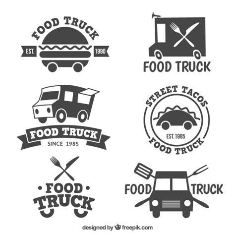 design food truck logo food truck logo collection vector premium download