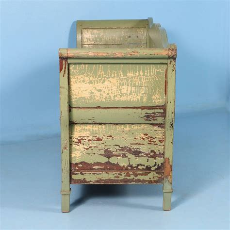 painted storage bench antique swedish green painted storage bench circa 1860