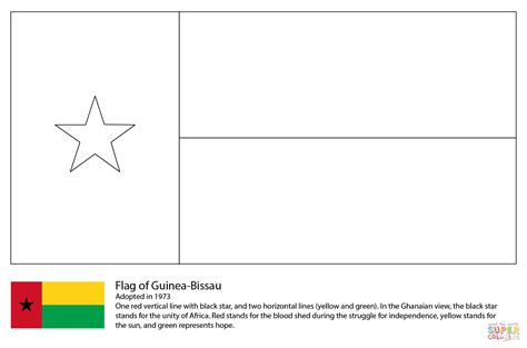 free coloring pages of flag of ghana flag of guinea bissau coloring page free printable