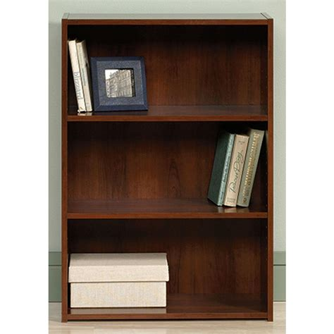 sauder beginnings brook cherry open bookcase 416438 the