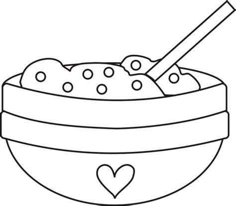 Spoon And Bowl Clipart Clipart Suggest Bowl Coloring Pages