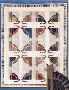 sawtooth cats fabulous foundation paper pieced quilt