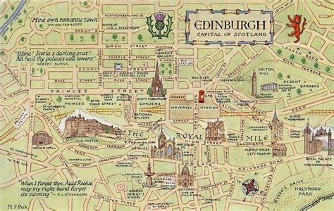 map of edinburgh scotland a postcard a day a week of maps 3 edinburgh
