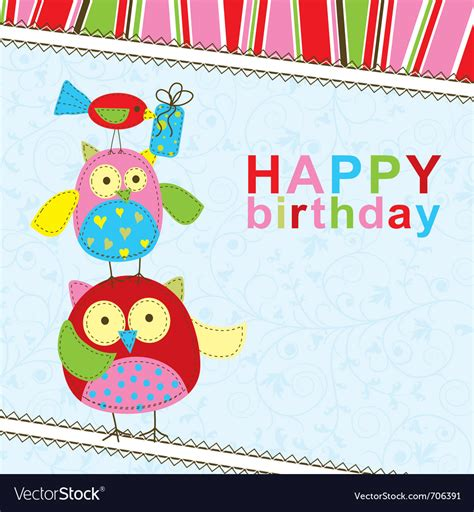 Template Birthday Greeting Card Royalty Free Vector Image Birthday Wishes Templates