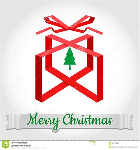 christmas tree text symbol merry symbol design with text stock vector image 61967352