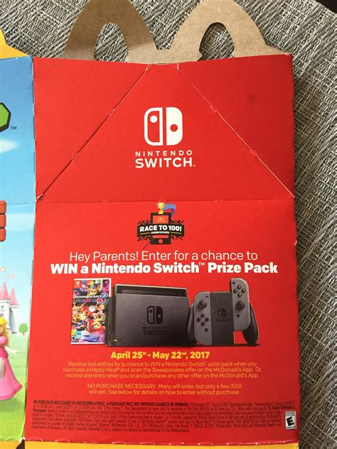 Giveaway Nintendo Switch - mcdonald s nintendo switch prize pack giveaway no purchase necessary nintendoswitch