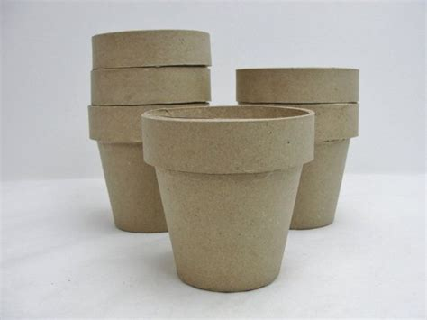 How To Make Paper Mache Pots - paper mache flower pot 4 quot flower pot set of 6 set of