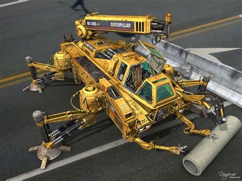 design concept construction walking crane design caterpillar wc 461e cg 3d