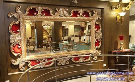 Cermin Jati Ukir Pigura Emas jual pigura ukir kaca hias mirror gold murah terbaru