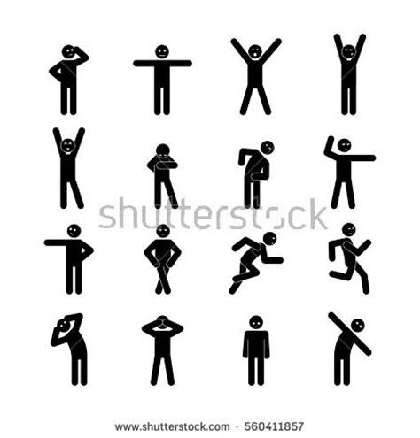 stickman exercise diagrams set illustrations stick figure website vector stock vector