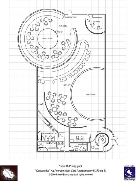 light nightclub floor plan modern floorplans nightclub fabled environments