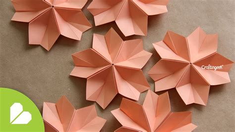 Flor Origami - modular decorativa flor de papiroflexia how to