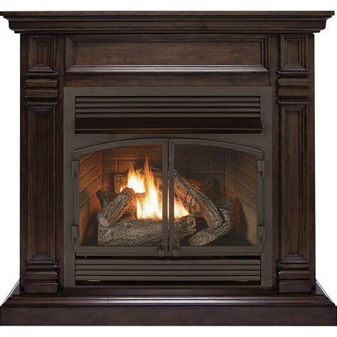 Product Procom Dual Fuel Vent Free Fireplace 32 000 Btu Gas Heater Fireplace