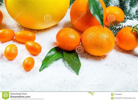 new year oranges with leaves fresh mandarins oranges pomelo kumquat kinkan with
