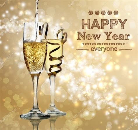 new year stock images happy new year chagne celebration stock photo