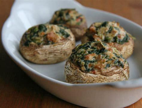 vegetarian stuffed mushrooms recipe vegan stuffed mushrooms 55 healthy snacks that will make