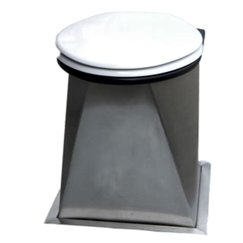 Stainless Steel Outhouse Toilet Pedestal even faster installation with the new natsol mk 3 compost toilet natsol