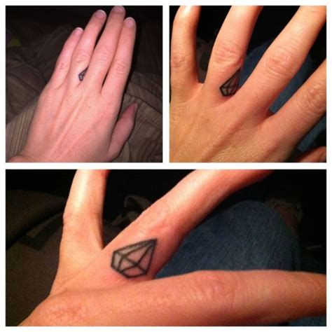 diamond tattoo thumb 56 stylish diamond tattoos on finger