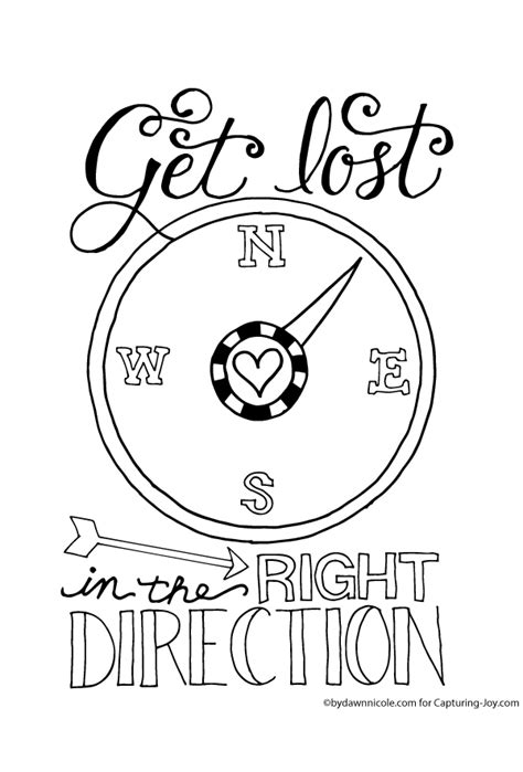 Get Lost in the Right Direction Coloring Page   Print