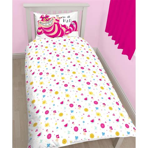 alice in wonderland comforter set alice in wonderland curious single duvet cover set 100