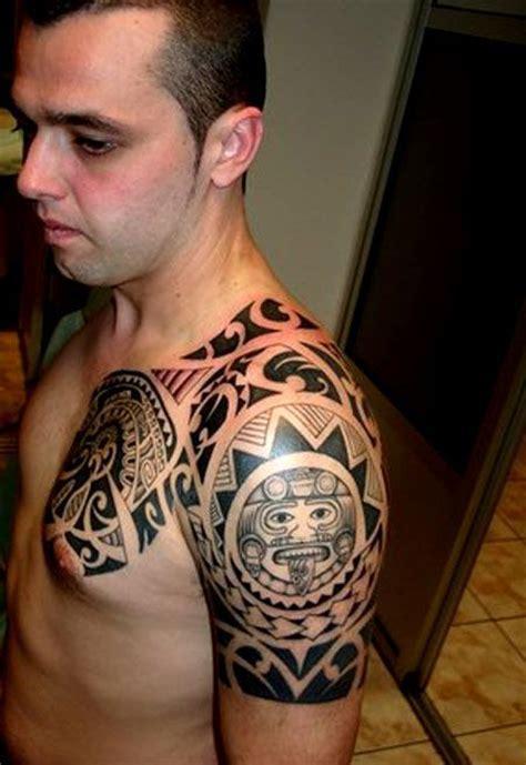 quarter sleeve aztec tattoo tribal sleeve tattoo designs cloud tattoos pinterest