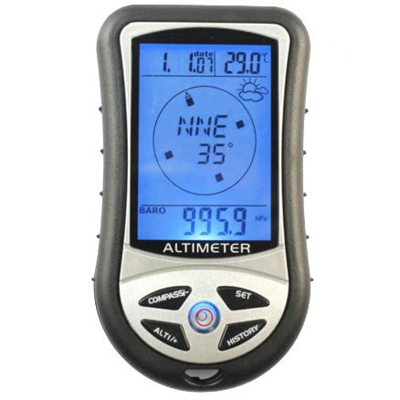 Mini 8 In1 Lcd Digital Altimeter Barometer Thermo Compass Weather Forecasts Time Calendar Mini 8 In1 Lcd Digital Altimeter Barometer Thermo Compass Weather Forecasts Time Calendar