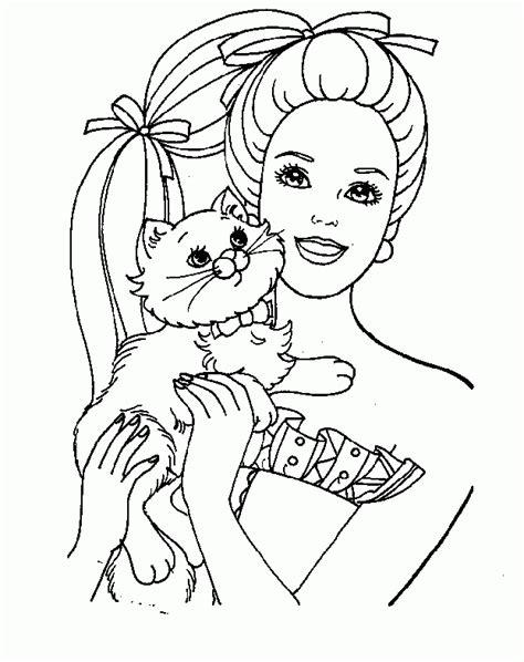 barbie pintar az dibujos colorear