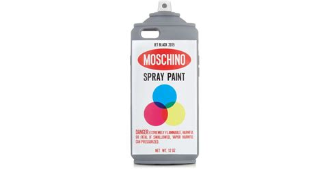 Moschino Spray Paint moschino spray paint iphone 174 6 lyst