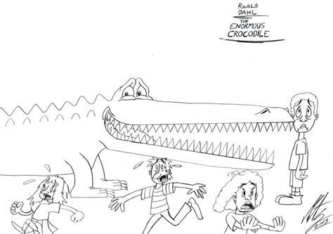 Roald Dahl Enormous Crocodile Sketch Coloring Page Roald Dahl Colouring Pages