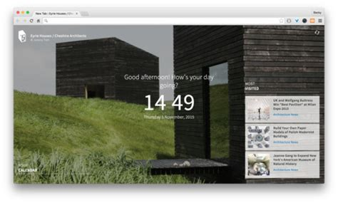 design inspiration chrome extension archdaily s chrome extension inspiration in every new tab