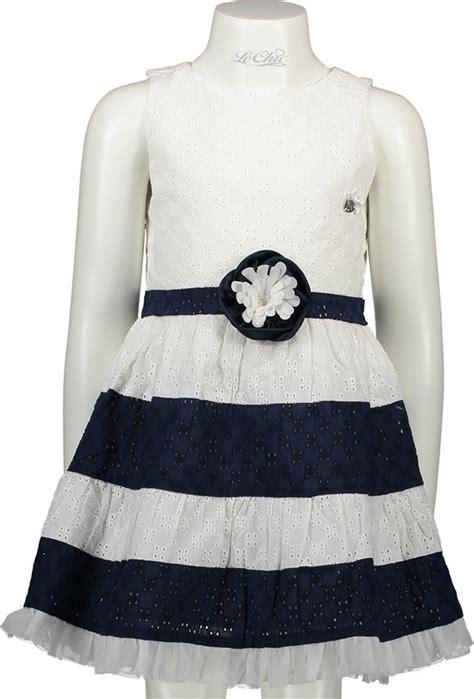 jurken le chic bol le chic meisjes jurk blue marine maat 152