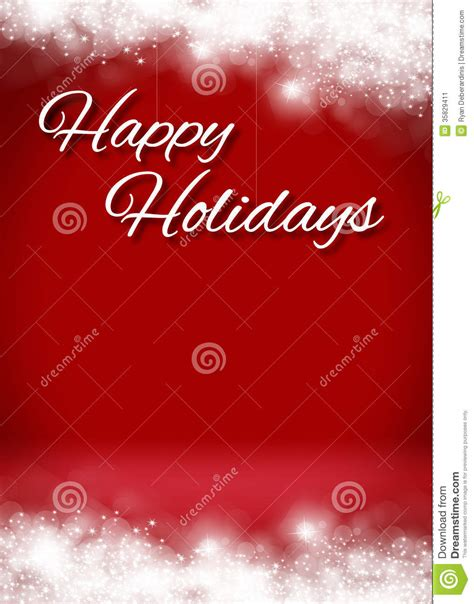 happy holidays from company card template snowy happy holidays 3d card background stage stock