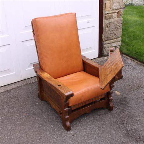 reclining reading chair robert thompson mouseman early oak reclining reading